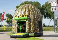 wholesale Disco Army Inflatable bounce house suppliers