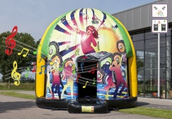 wholesale 18 ft Disco Bounce House with removable sheet suppliers