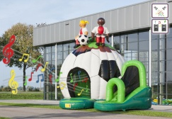 wholesale Disco Soccer Inflatable Bounce House suppliers