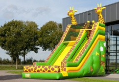 wholesale Super Inflatable giraffe slide for young and old suppliers