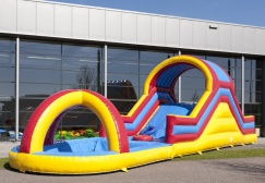 wholesale Inflatable Hill slide with splash pool suppliers