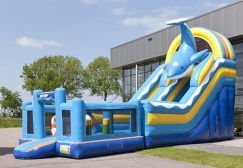 wholesale Inflatable Multiplay dolphin bouncer slide combo suppliers