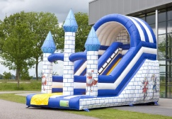 wholesale camelot theme inflatable castle with slide suppliers