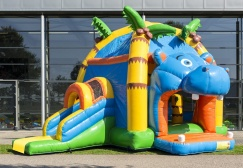 wholesale Hippo Moonwalk with Slide suppliers