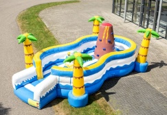 wholesale Plam Tree Beach Inflatable Play Island  suppliers