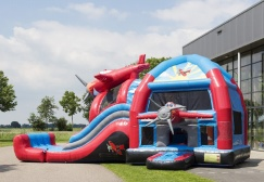 wholesale Large Airplane Bounce House With Slide suppliers