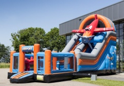 wholesale Inflatable Multiplay Airplane Slide with bouncer suppliers