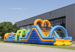 wholesale Double obstacle course inflatable bouncer suppliers