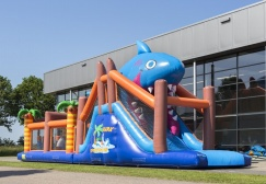 wholesale Challenging shark Inflatable Obstacle run suppliers