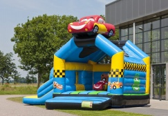 wholesale Race Car Bounce House With Slide suppliers