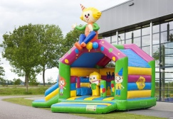 wholesale Party Inflatable Moonwalk With Slide  suppliers