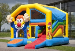 wholesale Multiplay Clown Bouncy With Roof suppliers