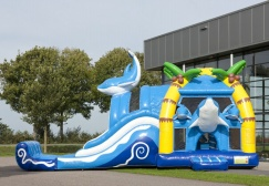 wholesale Large Dolphin Castle Slide Inflatable suppliers