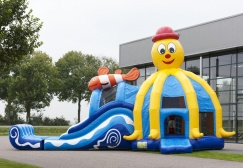 wholesale Large Octopus Inflatable Castle With Slide suppliers