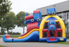 wholesale Large Train Bounce House Combo suppliers