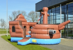 wholesale Battle inflatable Pirateship slide suppliers
