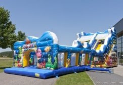 wholesale Big inflatable seaworld bounce house with slide suppliers