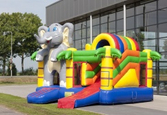 wholesale 3 in 1 Elephant Inflatable Castle suppliers