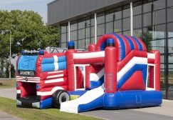 wholesale Inflatable Fire Truck Combo Bouncer suppliers