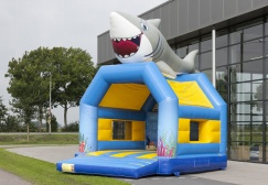 wholesale regular inflatable shark bounce house with roof suppliers