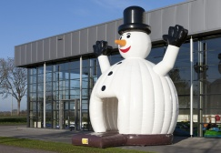 wholesale White Large Snowman Bounce House suppliers