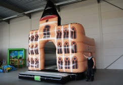 wholesale Town Hall castle inflatable bounce house suppliers
