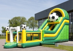 wholesale Multiplay Soccer Inflatable castle slide suppliers