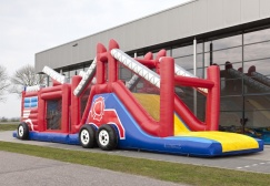 wholesale Challenging Inflatable fire truck Obstacle Course suppliers