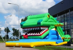 Big Mouth Inflatable Snapping Crocodile Slide Suppliers
