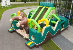 wholesale Battle jungle Inflatable assault obstacle course suppliers