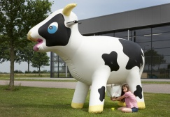 wholesale Fun Inflatable Milking Cow suppliers