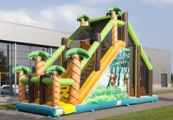 wholesale Mega Jungle Basejump Inflatable Run Game suppliers