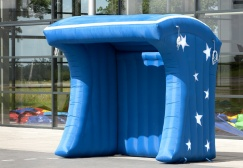 wholesale Blue Inflatable Popcorn Stand Booth suppliers