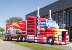 wholesale Inflatable Fire Truck Car Obstacle Course suppliers