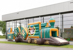 wholesale jungle Train inflatable cartoon obstacles suppliers