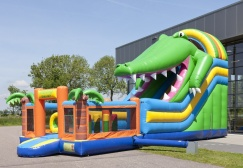 wholesale Multiplay inflatable crocodile bouncer slide suppliers