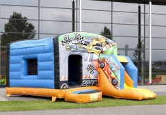 wholesale Race Car Inflatable Moonwalk suppliers