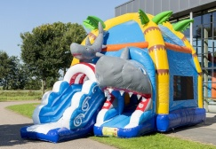 wholesale Shark Themed Inflatable Bouncy Slide suppliers