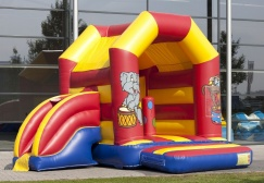 wholesale Medium circus moonwalk with slide suppliers