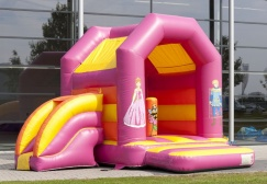 wholesale Medium inflatable princess bouncer with slide suppliers
