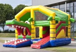 wholesale Crocodile Inflatable Combo with Roof suppliers