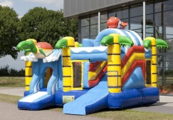 wholesale Inflatable Turtle Jumper House With Slide suppliers