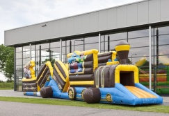wholesale Inflatable Train pirate theme obstacle course suppliers