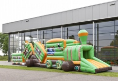 wholesale Inflatable Train safari theme obstacle course suppliers